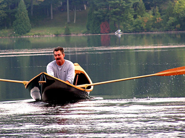 his 15-foot wooden boats as a physical template, Steve molded a boat ...