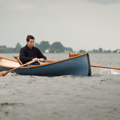Open Water Rowing in a Kevlar Adirondack Guideboat off the coast of Finland by Bouw van Wijk