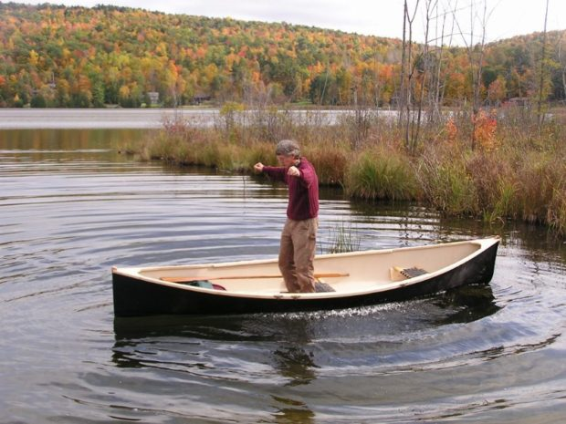 Performance testing of Adirondack Guideboat's 14-ft Vermont Fishing Dory