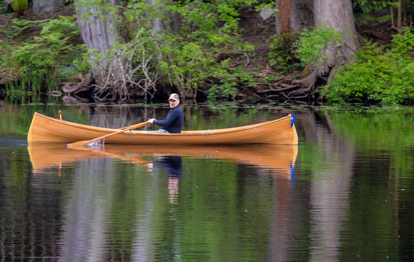 Handcrafted Cedar Adirondack Guideboat
