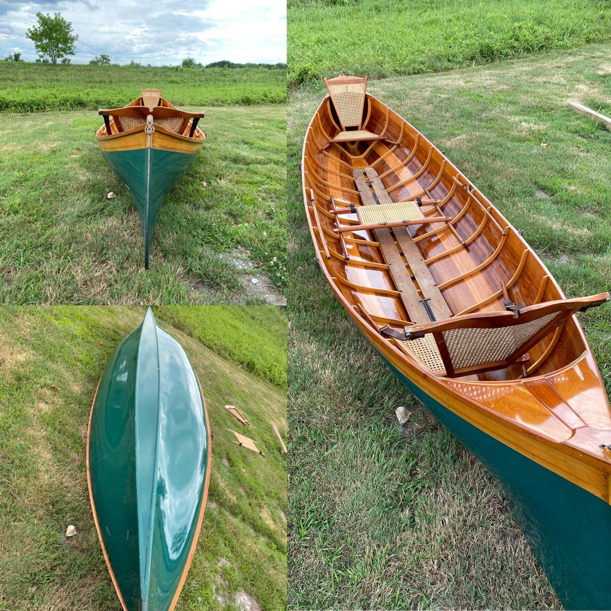 16' Painted Cedar Guide Boat