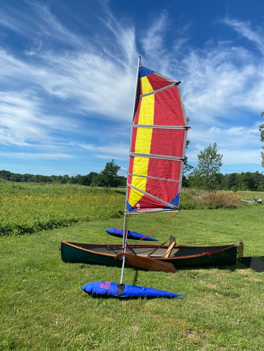12' Used Solo Pack Boat w/sail rig