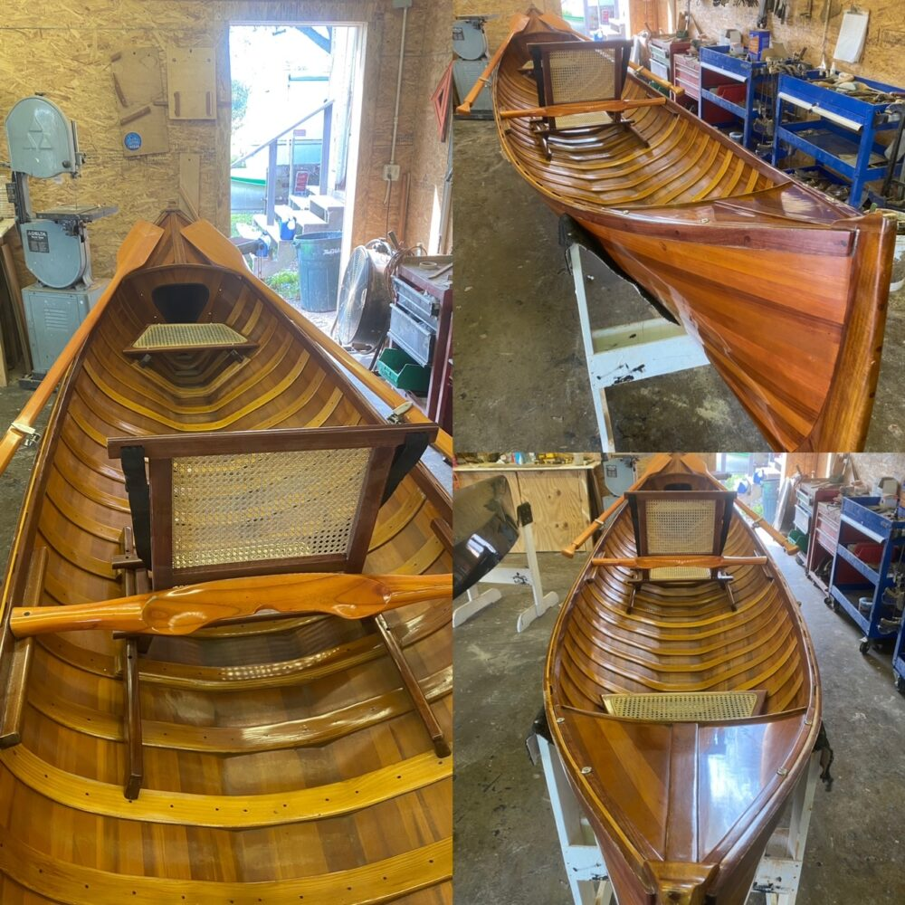 """15' 8"""" OMH Traditional Canoe (Guideboat design)"""